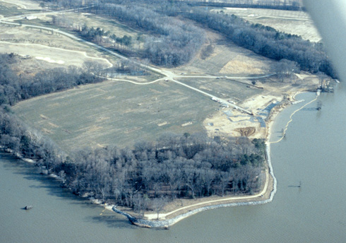 Arial View of site 1st and 18th fairways